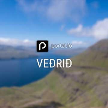 Veðrið 21. juli 2019